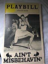 Ain't Misbehavin' Playbill 1970s Longacre Theatre Used Condition