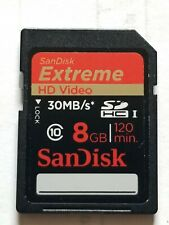 SanDisk 8GB Extreme HD VIDEO Memory SD Card