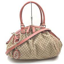 Gucci Hand Bag  Browns Canvas 1900624