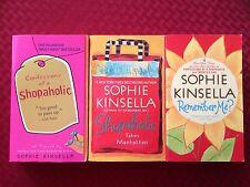 Sophie Kinsella- LOT OF 3 BRITISH CHICK LIT NOVELS- PB