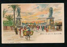 Egypt Entree du Pont de Kasr-el-nil Chromo-Litho u/b PPC