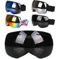 Adult Mens Frameless Snowboard Snowmobile Ski Goggles Anti Fog Dust Double-Lens