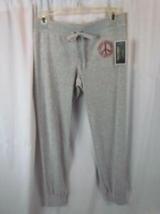 NWT Juicy Couture Black Label Gray Silver Zuma Pant Banded Cuff Slim Leg
