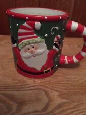 Large Christmas Holiday Coffee Cocoa Drinking Mug Santa Joy