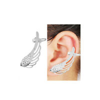Sexy Sparkles 1 Pc Angel Wing Ear Cuff Clip On Stud Wrap Earrings For Left Ear W