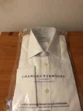 Charles Tyrwhitt Shirt 15.5/36in  White Poplin Extra Slim Fit
