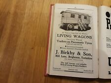 More details for  1938 the showmans year book includes lovely advert for living wagons
