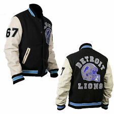 Beverly Hills Cop Eddie Murphy Axel Detroit Lions Varsity Bomber Jacket
