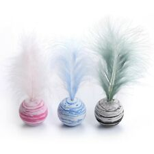 New listing Cat Toy Star Ball Plus Feather Eva Material Light Foam Ball Throwing Toy Pet