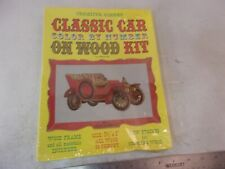 Vintage Creative Corner Color By Number On Wood Kit Classic Car Rolls Royce