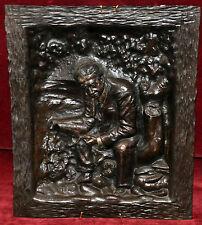 RAMÓN TEIXÉ BOLDÚ (BCN, 1873 - 1926) PLAFÓN EN BRONCE REPUJADO Y FECHADO 1910
