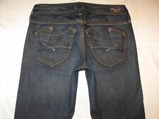 Brown Label Womens Jeans Prancer Low Bootcut Dark Distressed Sz 25 $210