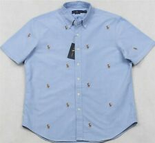 Ralph Lauren Blue Oxford Embroidered Pony Shirt Button-Front XL NWT $110