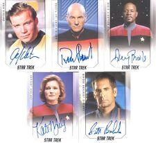 2017 Star Trek 50th Anniversary Captains AUTOGRAPH SET Of 5 Cards! Scott Bakula!