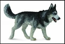 Husky Dog Figurine Siberian Black Grey White & Grey Gray Collecta Toy Animal New