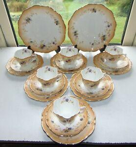 Vintage Art Nouveau Wellington China J.H. Cope & Sons 20PC Cups Saucers Plates