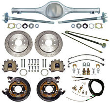 CURRIE 55-57 CHEVY REAR END & DRILLED DISC BRAKES,LINES,E- CABLES,AXLES,TRI-5