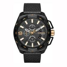 OROLOGIO DIESEL Heavyweight DZ4419 Pelle Nera WATCH UOMO 50 mm cronografo