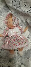 """DOLL CLOTHES For 9"""" Newborn Thumbelina """"Pink Floral Dress Set"""" by Maureen"""