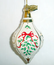 Lenox 2017 Annual Holiday Spire Ornament Christmas Holly Berry Gold Accents New