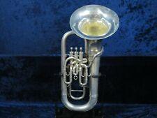 Besson Silver 3 Valve Baritone Horn Ser#567462 Beautiful Besson Sound!.