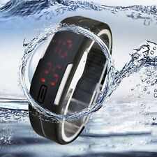 Ultra Thin Men Girl Sports Silicone Digital LED Sports Bracelet Wrist Watch US