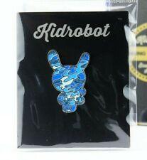 Kidrobot Pinning & Winning Enamel Pin Series 1 Dunny Tristan Eaton Camo Blue Art