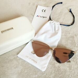 Le Specs Luxe NERO *NEW W TAGS + CASE** Triangle-frame Sunglasses ROSE GOLD