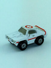 Micro Machines Auto Vehicle 1968 Pontiac GTO Medical Red Cross White Sports Car