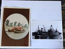 Real photo & postcard Fire Tug Tugboat Graeme Stewart James Battle Bayfair Ship