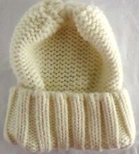 NEW! Merona Knitted Women's Beanie Knit Hat Ivory Acrylic Warm Cute Comfy ~~