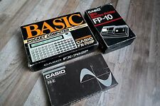CASIO FX-702P vintage calculator with FP-10 printer and FA-2 cassette modules