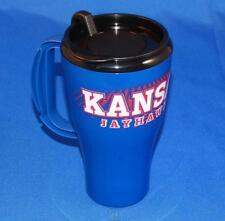 Kansas Jayhawks KU 16 Oz Roadster Plastic Travel Tumbler Tailgate Mug Coffee Cup