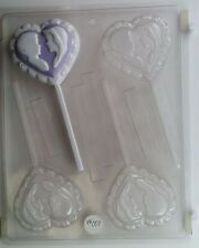 BRIDE AND GROOM LOLLIPOP CLEAR PLASTIC CHOCOLATE CANDY MOLD W007
