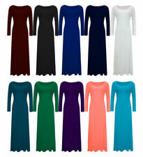 Polyester Winter Stretch Dresses for Women