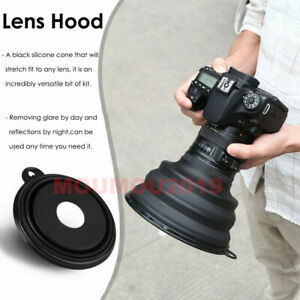 Camera Lens Cover Anti-Reflective Silicone Ultimate Lens Hood For Photographers