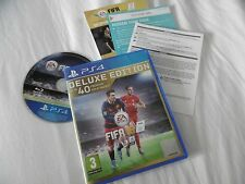 FIFA 16 DELUXE EDITION COMPLETE GAME PLAYSTATION 4 PS4 PAL PEGI 3 1-4 PLAYERS