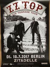 ZZ TOP 2017 Berlin-orig. Concert Poster-concert affiche NEUF