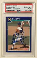 1991 Score NOLAN RYAN Signed Autographed Baseball Card PSA/DNA #4 Texas Rangers
