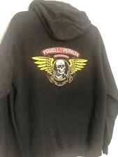 2000s Powell Peralta Ripper Skateboarding Logo Hoodie, Grey Medium , Barely Worn