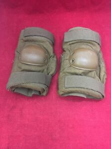 ONE PAIR US Military Elbow Pads Coyote Brown Large Good Condition
