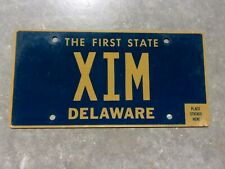 Delaware vanity license plate  #  XIM