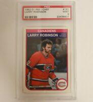 1982 O-Pee-Chee Larry Robinson Montreal Canadiens #191 PSA 9