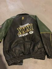 c6e2aff89 Super Bowl 31 (M) Leather Jacket - Packers
