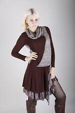 36 Designer Damen Stiefelkleid Lagenlook Kleid Dress Strickkleid Tunika  44 46