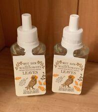 (2) Bath & Body Works White Barn LEAVES Wallflowers Home Fragrance Refill x2 NEW