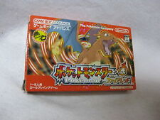 Pocket Monster Fire Red Game Boy Advance Boxed GBA Pokemon Nintendo Japan