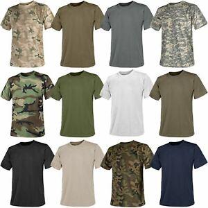 Helikon Mens Army Military Crew Neck Short Sleeve Cotton T-Shirt S-3XL