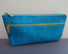 1x Napoleon Perdis Blue Snake Skin Makeup Cosmetics Bag, Large Size, Brand New!!