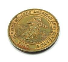 Vtg 1918 WORLD WAR I AMERICAN ARMY IN FRANCE SERVICE HK-892 893 Dollar Medal